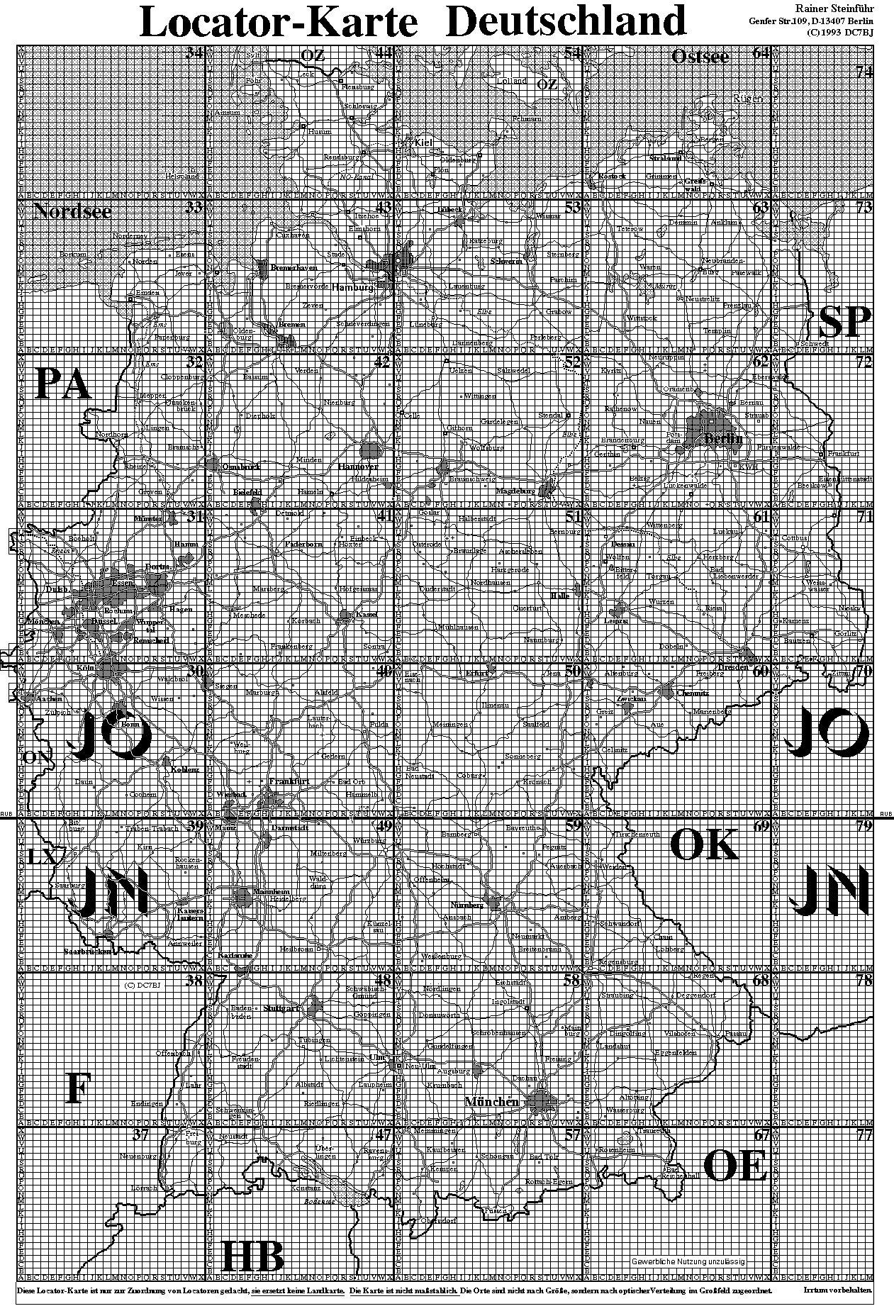 qth locator karte deutschland Anderes    DL Locator   Wumpus Welt der Radios